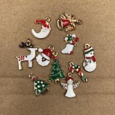 5pcs Xmas Enamel Charm Christmas Tree/Snowman/Santa Claus/Moon Beads Pendant /LE