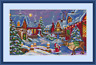"MEREJKA Counted Cross Stitch Kit 11.8"" x 7"" CHRISTMAS GUEST 75"