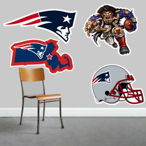 New England Patriots Wall Art 4 Piece Set Large Size------New in Box------