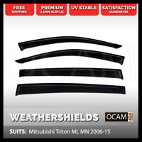 OCAM Weathershields For Mitsubishi Triton ML MN 2006-15 Window Visors