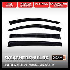 OCAM Weathershields For Mitsubishi Triton ML MN 2006-15 Window Visors