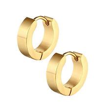 1 Pair PUNK Men Women Hoop Ear Stud Stainless Steel Earring Hoop Piercing BeTB