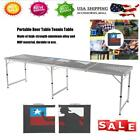 8 Foot Beer Pong Table Aluminum Portable Folding Party Game Camping Desk