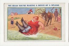 We Hear You're Making A Deuce Of A Splash Reg Maurice Comic Postcard 157a