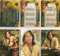 Hercules Rittenhouse complete 120 card base set including Xena