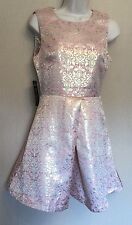 AX Paris UK10 EU38 US6 new pink and gold brocade sleeveless dress