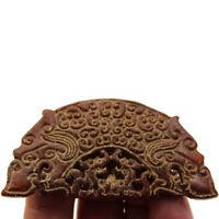 China Natural Jade a Pair Of Dragon And Phoenix Pattern Couple Pendant SHUANG XI