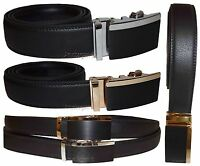 Men's belt, Genuine Leather Dress Belt Automatic Lock buckle Men's Black belt BN