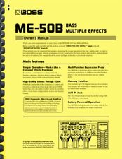 Boss ME-50B BASS Multi-effects OWNER'S MANUAL