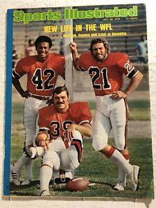 1975 Sports Illustrated MEMPHIS GRIZZLIES Kiick CSONKA Warfield WFL No Label