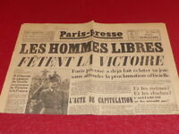 "[PRESSE WW2] ""PARIS PRESSE"" # 152 9 MAI 1945 Victoire! Capitulation Allemagne"