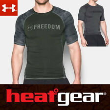 NWT Mens Under Armour Freedom HeatGear Short Sleeve Compression Shirt SZ XL-3XL