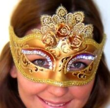 Copper Masquerade Mask Roses n Lace OVERNIGHT Most Metro Italian Made