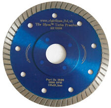 3 Porcelain Tile Cutting Diamond Blades. Thin Turbo. 115mm. 4.5in.  Fast & Neat.