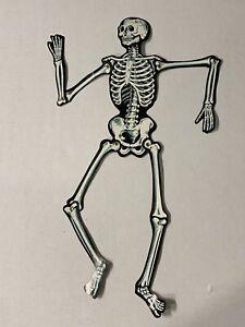 """Vintage Beistle Skeleton Jointed Die Cut Figure  22"""" Halloween"""