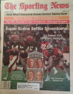 1982 Sporting News Ronnie Lott 49ers Ken Anderson Bengals Sikma Dailey RARE Ads