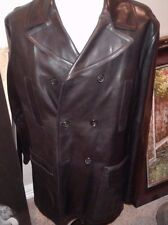 $5995 PRADA Double breasted Leather  Jacket Size U.S 44 EU 54 HAND MADE IN ITALY