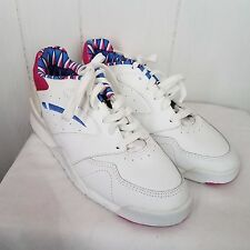 vtg LA Gear white Tennis Shoes Sneakers pink blue size 10 womens 1994
