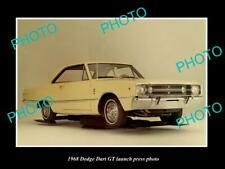 OLD POSTCARD SIZE PHOTO OF 1968 DODGE DART GT COUPE LAUNCH PRESS PHOTO 2