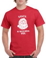 Santa Is Watching You T Shirt Christmas Xmas T-shirt Tee Funny Gift Present