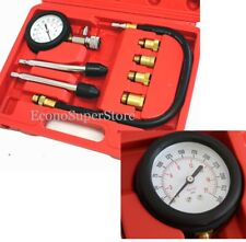 Engine Cylinder Compression auto Tester Kit gauge M8 M10 M12 M14 Gas motor 90376