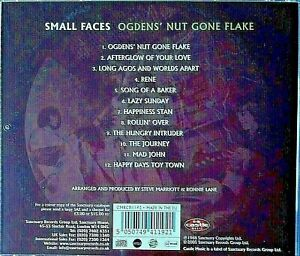 USED ; THE SMALL FACES - OGDEN'S NUTGONE FLAKE CD. 24 YRS OLD-STILL-GOING STRONG