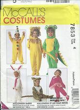M 7853 sewing pattern COSTUME Clown Mouse Mice Dinosaur Lion Santa Bunny child 4