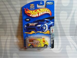 2003 Hot Wheels '' Final Run '' #196 =Ambulancia= Amarillo, 0711