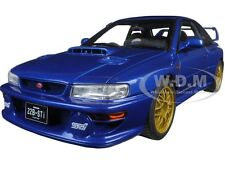SUBARU IMPREZA 22B BLUE UPGRADED VERSION 1/18 DIECAST CAR MODEL BY AUTOART 78602