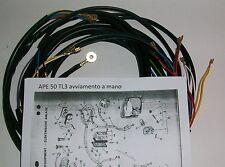 IMPIANTO ELETTRICO ELECTRICAL WIRING APE 50 TL3 AVVIAMENTO A MANO CON SCHEMA