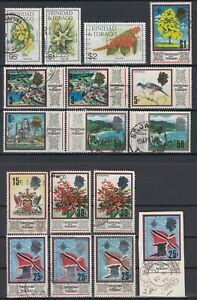 Trinidad and Tobago 1969 ☀ QEII - typical motifs & flowers 1983 ☀ 17v used