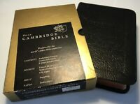 Vintage Cambridge KJV Holy Bible, References, Maps, French Morocco Leather, Gold