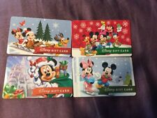 Disney Christmas Gift Card - Lot Of 4  - No Value