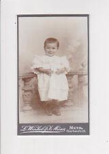 photographie cdv bébé fillette WINKEL & MUSER METZ carte de visite
