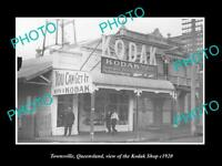 OLD LARGE HISTORIC PHOTO OF TOWNSVILLE QLD THE KODAK PHOTOS STORE c1920