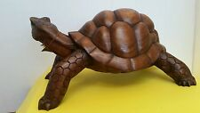 Hand Crafted Wood Turtle Sculpture, 'Mythic Tortoise' Artist  Seji Taram-Novica