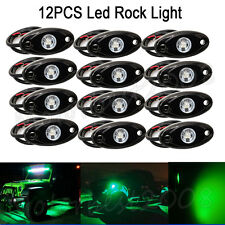 "12x 2"" GREEN CREE LED Rock Light Off-Road Underglow Foot Wheel Well Lights Truck"