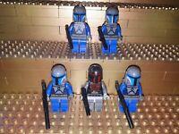 5 Lego Star Wars Mandalorian Trooper Figuren mit Zubehör Minifig 7914 75022 W12