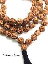 RUDRAKSHA PREMIUM RUDRAKSH JAPA MALA ROSARY 108 +1 BEADS YOGA HINDU MEDITATION