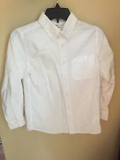 Hanna Andersson 140 White Long Sleeve Shirt Boys