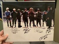 Mighty Ducks Signed 11x14 Signed Autographed By 5 JSA AUTH