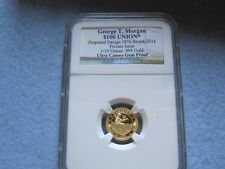 Smithsonian Master Engravers Gold Proof George T. Morgan $100 Union 1876