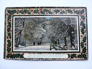 Christmas Greeting sent 1909. Published by Watkins & Kracke Ltd.