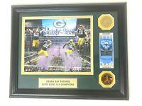 Super Bowl XLV Pittsburg Steelers Green Bay Packers Full Ticket Framed