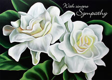 4 Greeting Cards Hawaiian Sympathy Two Gardenias by Anna Keay