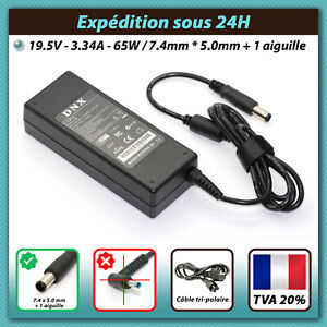 CHARGEUR ALIMENTATION 65W 19.5V 3.34A DELL LATITUDE E5410 E5440 E5450 E5500