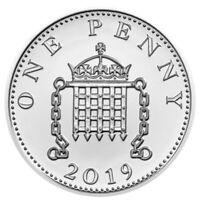2019 Great Britain Royal Birth 1 Penny Silver Coin Gem BU SKU58066