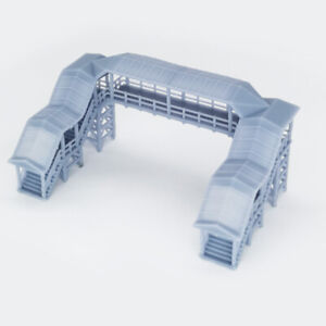 Outland Models Railway Scenery Overhead Footbridge (With Canopy) 1:160 N Scale