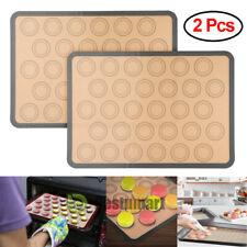 2Pcs Silicone Macaron Macaroon Pastry cake Oven Baking Mould Sheet Mat Non-Stick