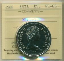 1974 Canada Nickel Dollar ICCS PL-65 Winnipeg, for New Hobbyist